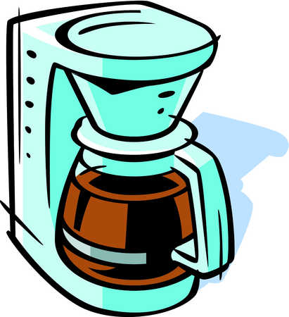 Stock Illustration - Drawing of a coffee maker