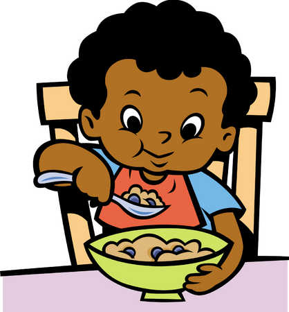 Kids Eating Breakfast Clip ArtKids Eating Breakfast At School Clipart