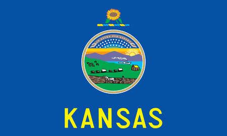 emblem flag flag of kansas graphic horizontal icon illustration kansas ...